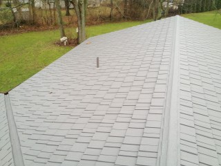 top view of large portion of roof.