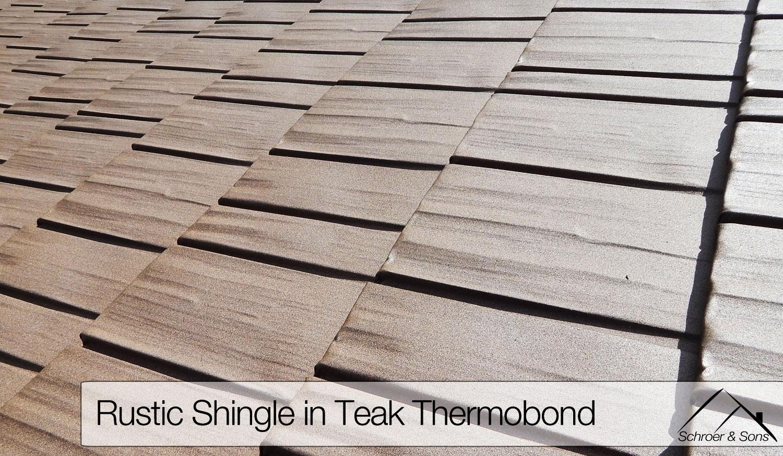 Rustic Aluminum Metal Roof Shingle